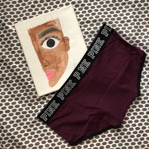 PINK Victoria's Secret Intimates & Sleepwear - NIP Victorias Secret Pink Maroon original boyshort